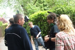 thumbs Saranne on the set of 2009s The Shoe - My interview with Swedish film maker Emil Johansson